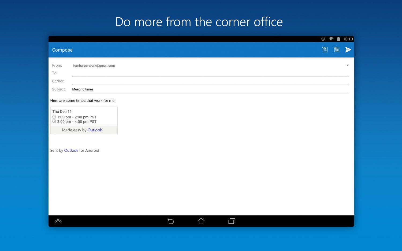 مايكرسوفت تتيح Outlook لأجهزة أندرويد و iOS