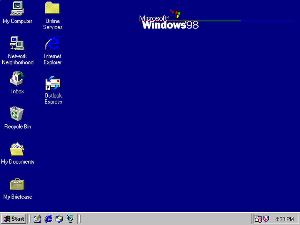 Windows 98 (العام 1998) - تم تحسين الأداء بشكل كبير، ودعم أكثر للعتاد .. كما تم التركيز أكثر على تحسين الويب والاتصال بالانترنت.